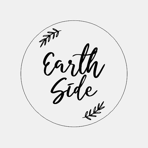 Earth side wooden plaque