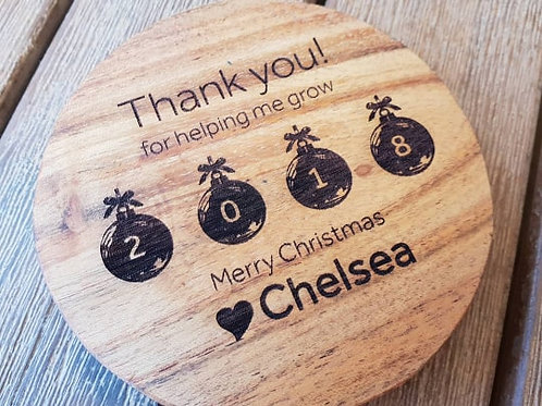 Personalised Thank you Coasters (set of 4)
