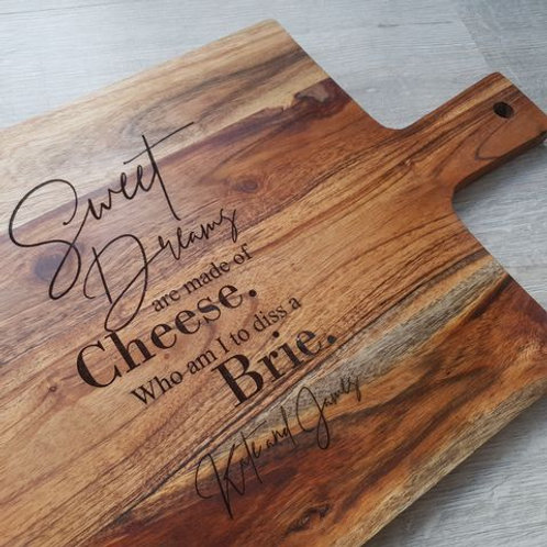Personalised Sweet Dreams Are Made Of Cheese Board