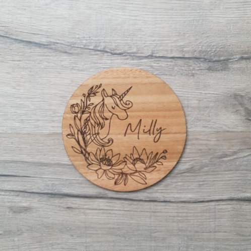 Personalised Unicorn Wall Plaque