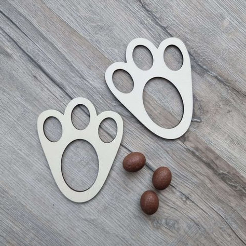 Wooden Easter Bunny Feet Stencil