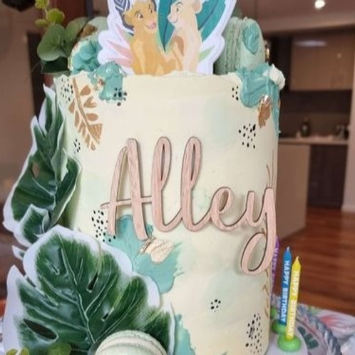 Personalised Name Cake Fropper (Front topper)