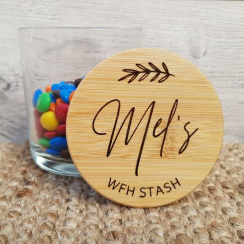 Personalised WFH/ISO Miss You Jar
