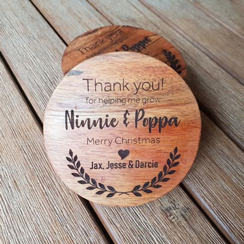 Personalised Thank You Coasters #2 (set of 4)