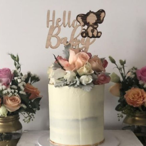Hello Baby Cake topper