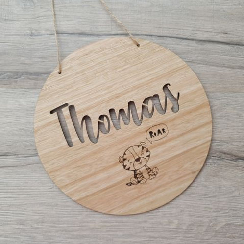 Name Cutout Plaque/Hanging