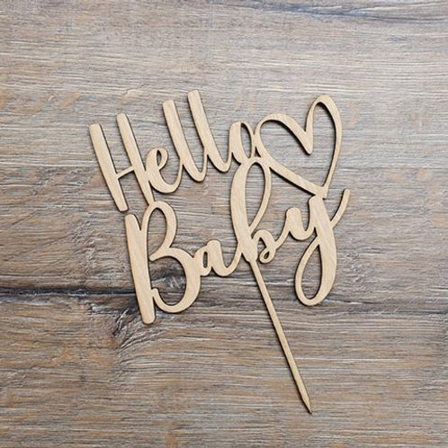 Hello Baby Cake topper #2