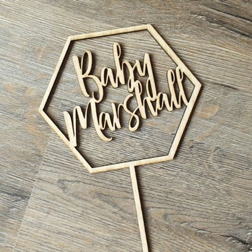 Personalised Baby Cake topper