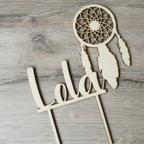 Personalised Dreamcatcher Cake topper
