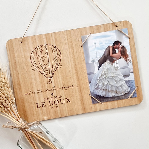 Personalised Photo Frame Wall Hanging Plaque