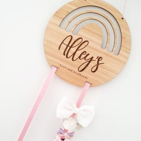 Personalised Bow and Headband Hanger