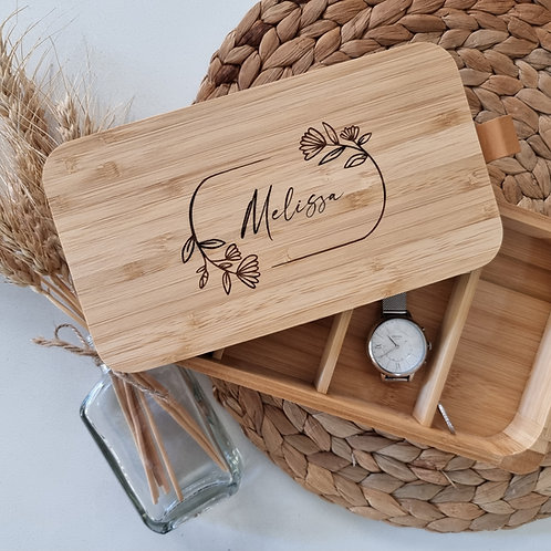 Personalised Jewellery Case with Mirror