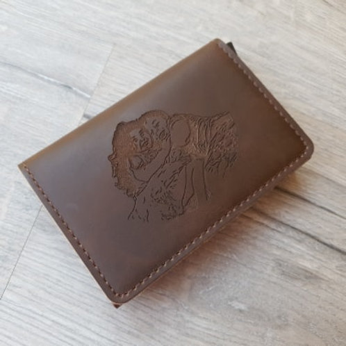 Photo Leather Credit Card Holder/wallet with RFID Blocking