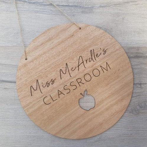 Teacher's Classroom Plaque