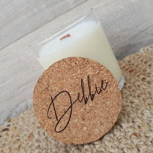 Personalised Coconut/Soy Wax Candle