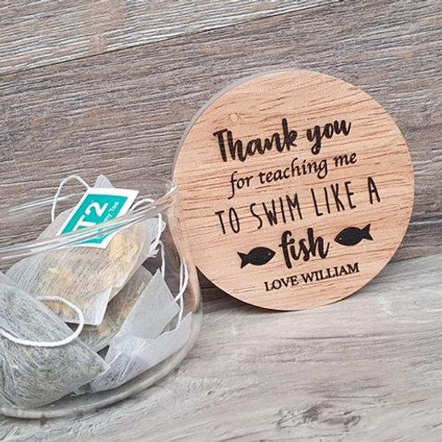 Personalised Swimming Teacher Jar