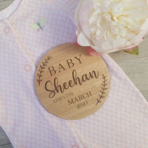 Personalised Pregnancy Announcement Plaque
