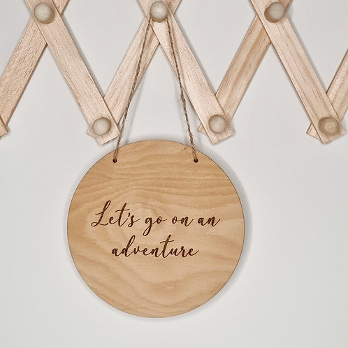 Personalised Hanging Wall Plaque