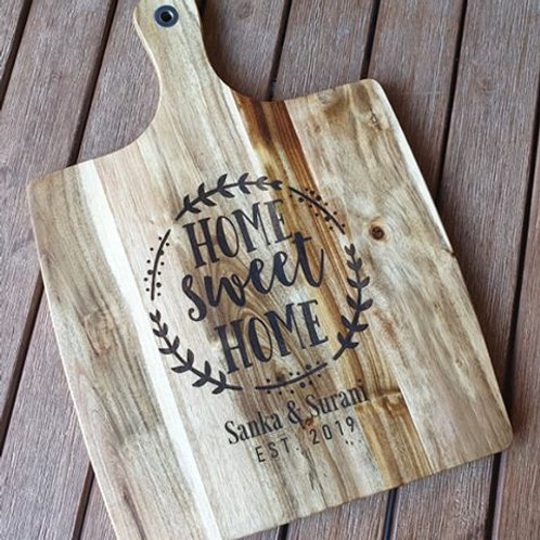 Personalised Home sweet Home Board