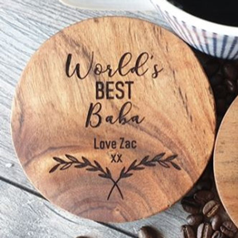 Personalised World's Best Coasters (set of 4)