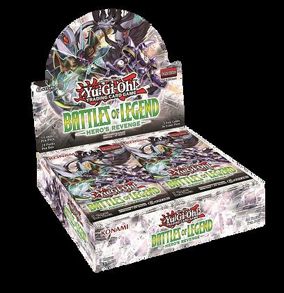 Display de sobres Ingles Yu-Gi-Oh! Battles of Legends Hero's Revenge