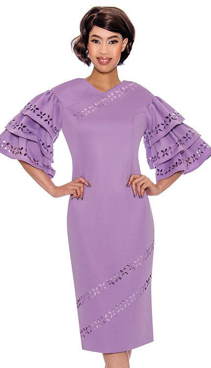 1pc Renova Ladies Dress With Laser Cut Details