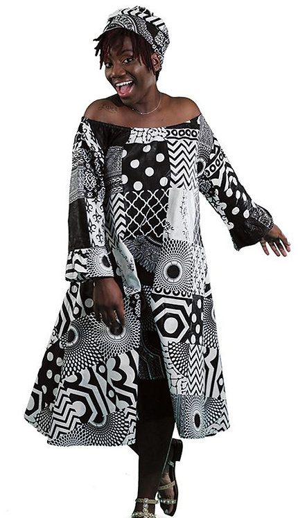 2pc Traditional African Print Dress