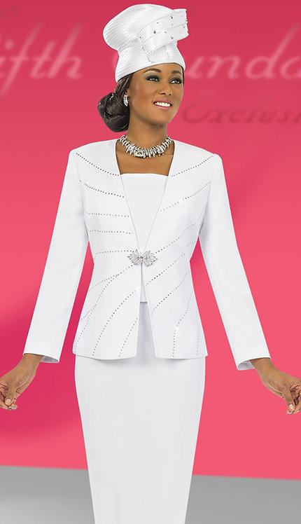 3pc PeachSkin Sunday Skirt Suit