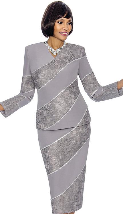 2pc PeachSkin With Brocade Ladies Suit