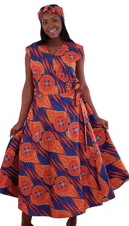 2pc Sleeveless Wrap Dress