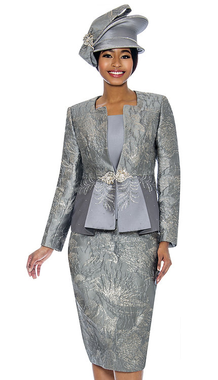 3pc Brocade Womens Church Suit