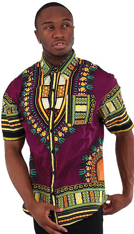 1pc Traditional Short Sleeve Dress Shirt
