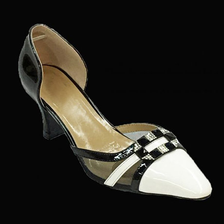 Black With White Designer Shoes