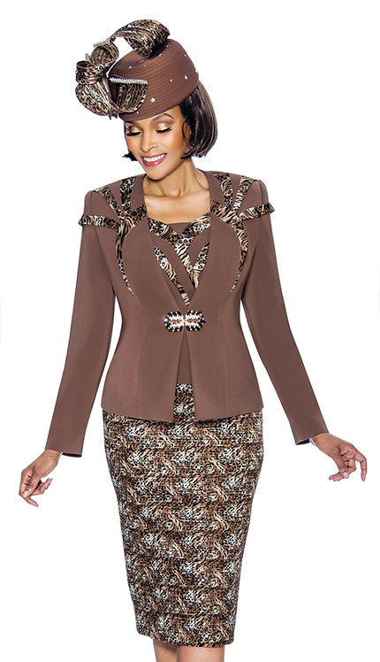 3pc PeachSkin With Novelty Womens Suit