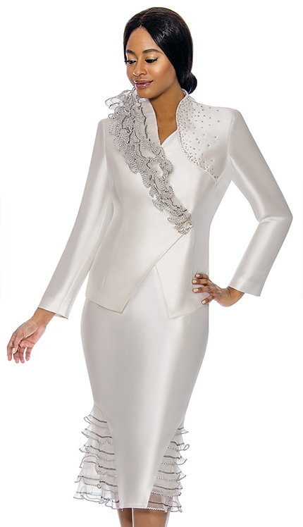 2pc Silk Womens Sunday Suit