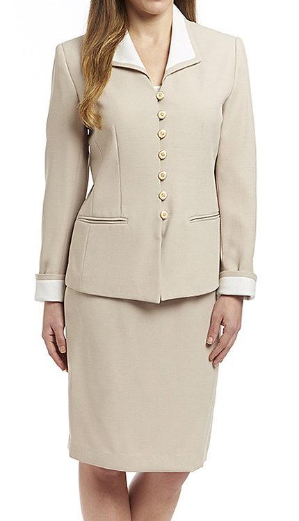 2pc Shantung Career Suit