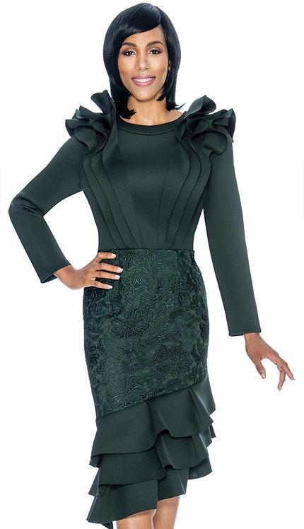 1pc Scuba Knit With Lace Ladies Dress