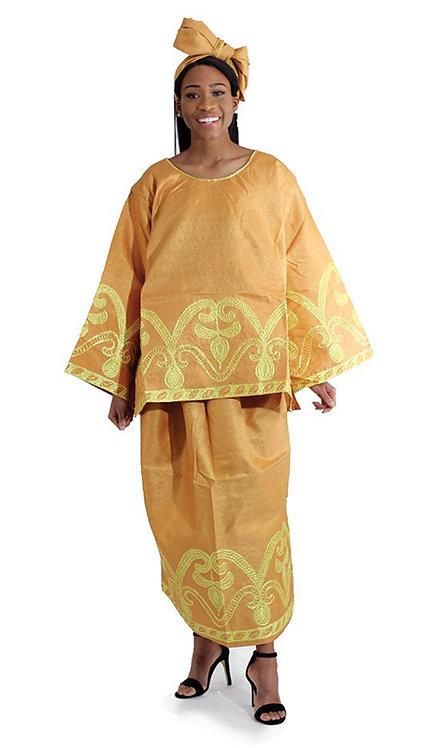 2pc Empress Skirt Set With Head Wrap