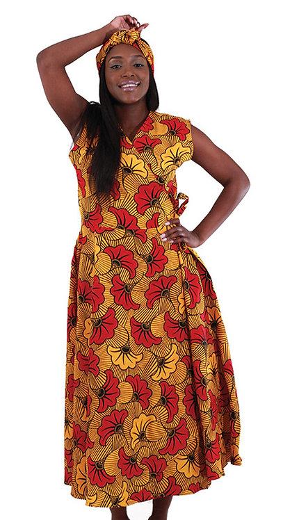 2pc Women's Sleeveless Wrap Dress
