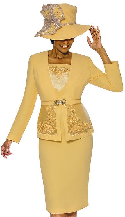 3pc PeachSkin Suit For Church
