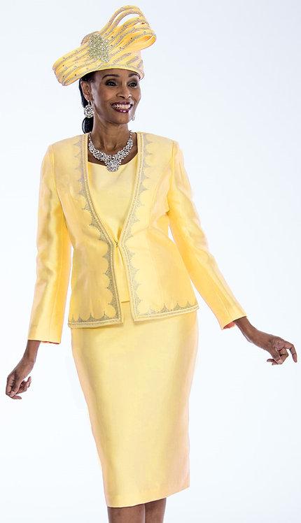 3pc Silk Ladies Embellished Suit