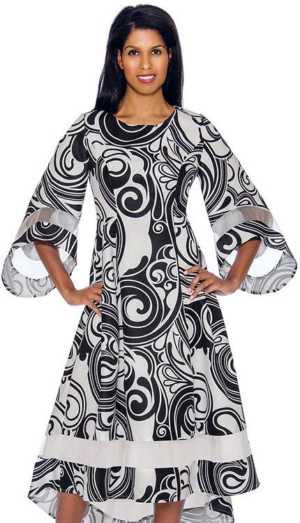 1pc Silk Look High-Low Dress