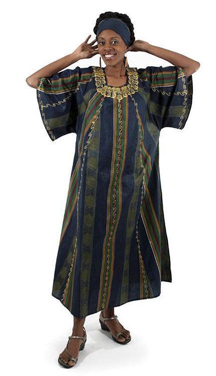 2pc Kente Dress And Head Wrap