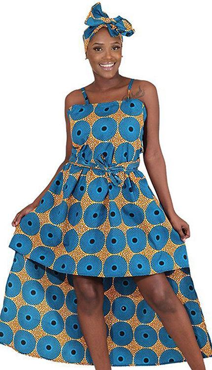 1pc Circle Print Hilo Dress