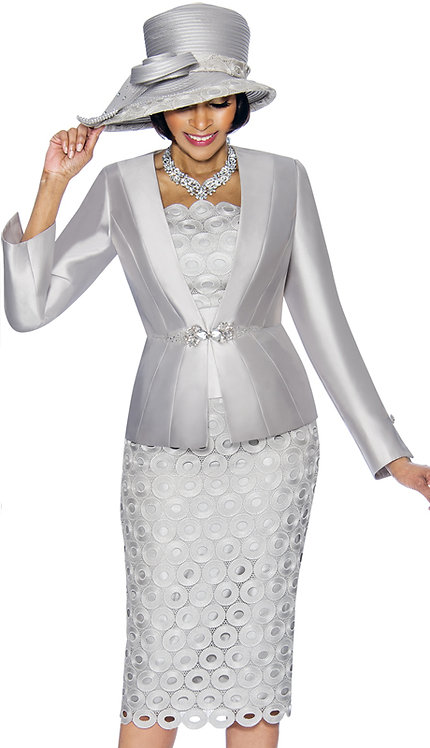 3pc Silk With Lace Womens Suit