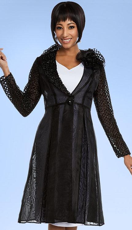1pc Womens Sheer Jacket Dress