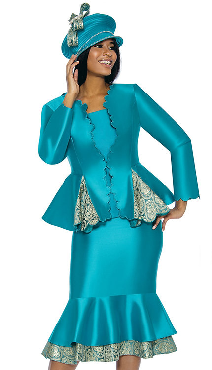 3pc Silk Womens Church Suit
