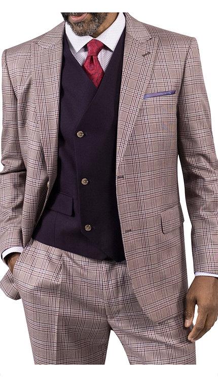 3pc Suit With Solid Vest