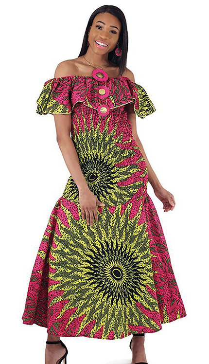 1pc Pink African Made Sun Dress
