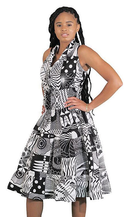 1pc Traditional African Print Dress